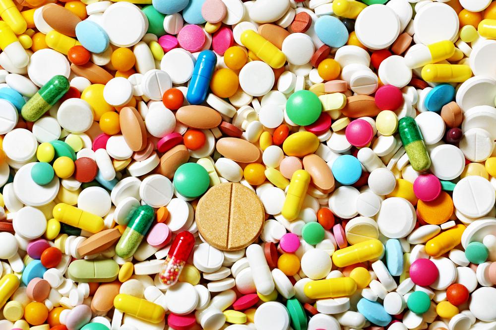 viele bunte Tabletten